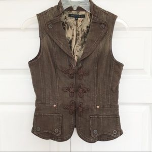Vintage | Brown Denim Sleeveless Vest